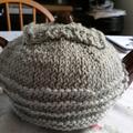 Handmade Tea Cosy (Little Grey Pullover)