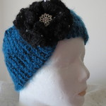 Head Warmer - Turquoise and Black