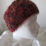 Head Warmer - Red, Brown and Orange wit a Metallic Thread
