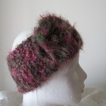 Head Warmer - Dusty Pink and Green