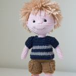 Crochet doll, Handmade doll, Cheeky boy, Amigurumi, Stuffed Toy, Gift Idea