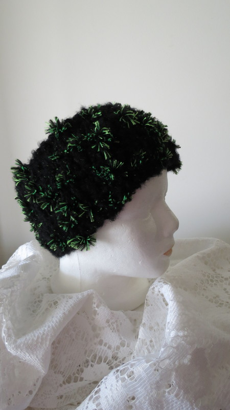 Head Warmer - Black and Green