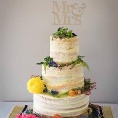 wedding cake topper - mr and mrs glitter cardstock
