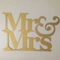 wedding cake topper - mr and mrs glitter cardstock