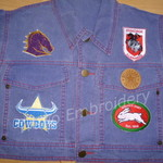 """Rugby Team Styled"" Iron-on Badge"