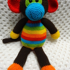 Monkey, READY TO POST, Crochet Toy, Amigurumi, Toddler Boy Gift