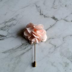 Peach Flower Lapel Pin