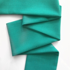 Turquoise linen look hair scarf