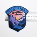 Wilderness Adventure Awaits Embroidered and Iron on Patch Camping Outdoors Patch