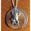 Two toned frog Necklace.