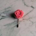 Pink Felt Flower Lapel Pin