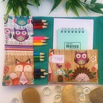 Small Pencil Wallet, Pencil Case, Drawing Set, fox, woodland