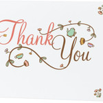 10 Thank You Cards and White Envelopes