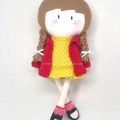 My Teeny-Tiny Doll®️ - Handmade Fabric, Rag Doll