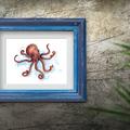 Watercolour Octopus Instant Download Printable Art | A3, A4 & A5 | Home Decor