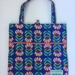 Fold up shopping tote bag – iris print 3