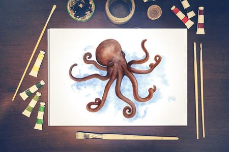 Watercolour Octopus ~ A4 Print | Ocean Marine Wall Art | Quirky Decor