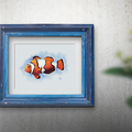 Clownfish Printable Watercolour Art   A3, A4 & A5 Instant Download   Home Decor