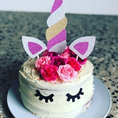 Unicorn cake topper- horn and ears.  DIY. 