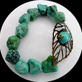 Turquoise and bronze bracelet