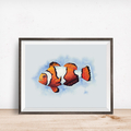 Clownfish Printable Watercolour Art | A3, A4 & A5 Instant Download | Home Decor