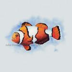 Watercolour Clownfish A3 Fine Art Print Ocean Marine Wall Art Decor Nature