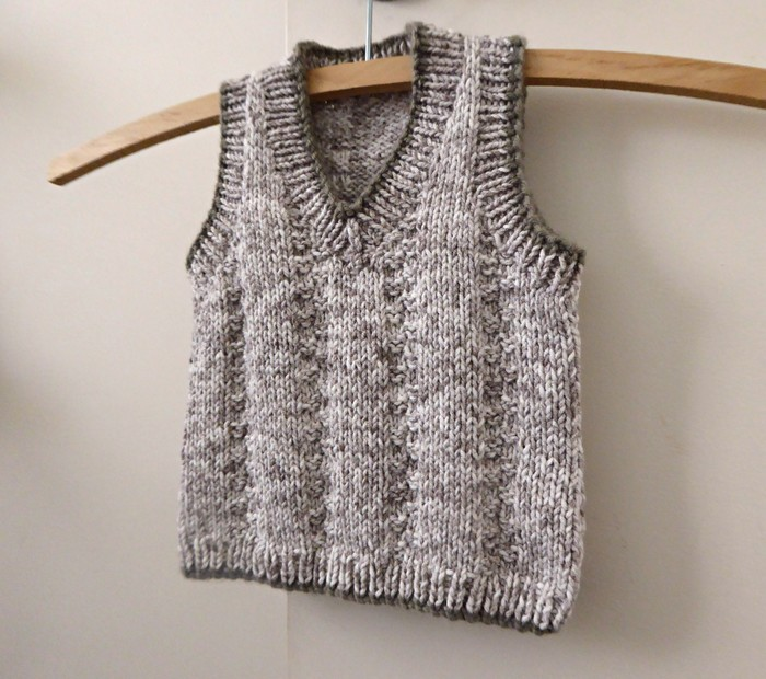 51f35cf07 Hand knitted vest for baby boy