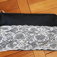 Lace clutch/zip pouch