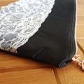 Lace clutch/zip pouch