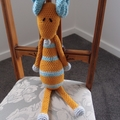 Maurice the house mouse: Unisex, OOAK, washable, crochet
