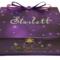 Purple 'Wish Upon A Star' Time Capsule, Keepsake, Trinket, Treasure Box