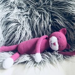 Crochet cat soft toy