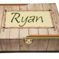 Rustic Wood Keepsake, Memory, Trinket, Jewellery, Wooden, Personalised Box