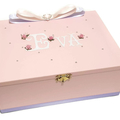 Soft Pink Keepsake, Trinket, Jewellery, Treasure, Wooden,  Box