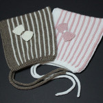 Pixie Hat ~ Pink or Coffee ( Size 1-2 yrs)