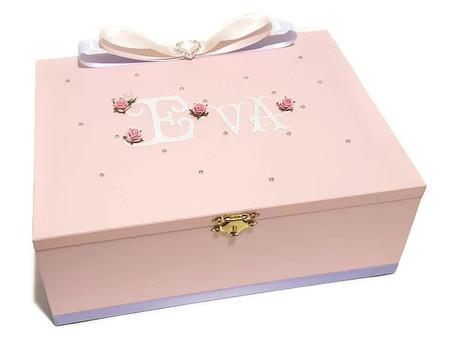 Soft Pink Keepsake, Trinket, Jewellery, Treasure, Wooden,  Box