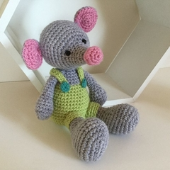 George the Mouse - crocheted, knitted, softies
