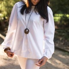 Women's Long Sleeve Top in Linen
