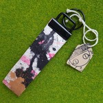 SPLATTER Fob #3 keychain keyring eco washable paper leather ink doodle