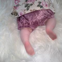Velvet Blush Pink Shorties GirlsToddler  Babies
