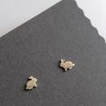 Bunny Earrings Sterling Silver Rabbit Studs