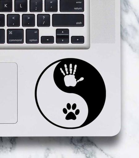 LAPTOP DECAL - Yin Yang Hand & Paw