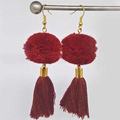 BEE//FUZZ: Earrings -Shiraz PomPom with Shiraz Tassels