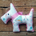 Indi Upcycled  Vintage Chenille Scotty Dog