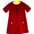 Red Velvet Delight Girl's Dress
