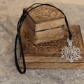 Silver Tibetan Flower Necklace