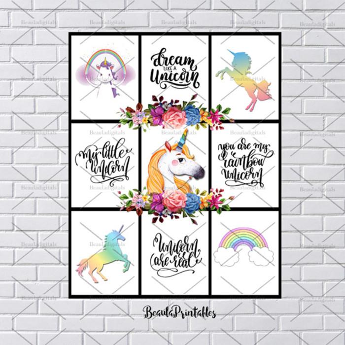Printable Unicorn Rainbow Print My Little Unicorn Print Instant