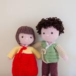 Crochet Doll, Handmade Toy, Dolls in Korean Costume, Amigurumi, Traditional doll