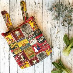 Reusable shopping bag - coffee tote bag FREE SHIPPING