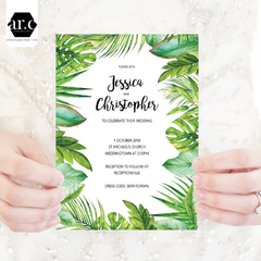 Wedding Invitation/Stationery Editable Templates - DIY - Greenery